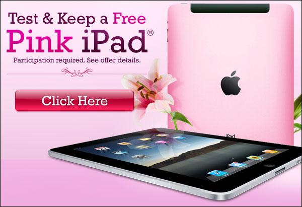 Pink iPad